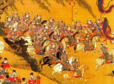 painting-of-ming-dynasty-military-calvaries-and-weapons